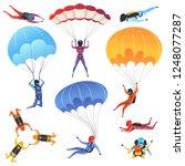 extreme parachute sport.... | Shutterstock .eps vector #1248077287