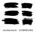 brush lines set. vector... | Shutterstock .eps vector #1248081481