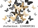 gold and black butterflies on a ... | Shutterstock .eps vector #1248089281