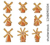 mill set. vector | Shutterstock .eps vector #1248090334