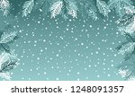blue winter background or... | Shutterstock .eps vector #1248091357