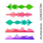 amplitude colorful motion waves.... | Shutterstock .eps vector #1248102784