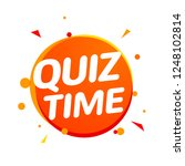 quiz time icon concept. vector... | Shutterstock .eps vector #1248102814
