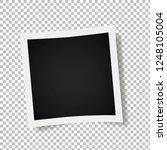 photo frames on transparent... | Shutterstock .eps vector #1248105004