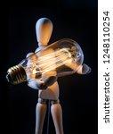 wooden articulated artist doll... | Shutterstock . vector #1248110254