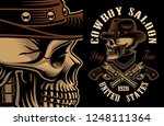 vector illustration of cowboy... | Shutterstock .eps vector #1248111364
