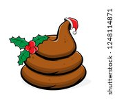 funny shit with christmas... | Shutterstock .eps vector #1248114871