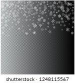 christmas blizzard. snowfall... | Shutterstock .eps vector #1248115567