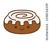 vector cartoon cute cinnamon... | Shutterstock .eps vector #1248116104