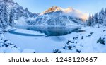 winter background. sunny... | Shutterstock . vector #1248120667