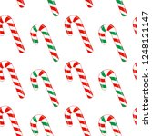candy canes seamless pattern ... | Shutterstock .eps vector #1248121147