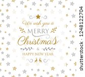 decorative christmas card with... | Shutterstock .eps vector #1248122704