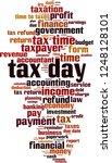 tax day word cloud concept.... | Shutterstock .eps vector #1248128101