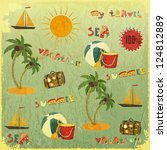 summer background. retro card... | Shutterstock .eps vector #124812889