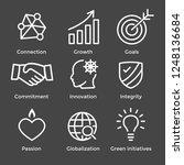 core values outline or line... | Shutterstock .eps vector #1248136684