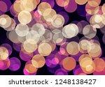 blur and bokeh  vibrant colors. ... | Shutterstock . vector #1248138427