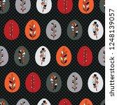 vector decorated boho easter...   Shutterstock .eps vector #1248139057