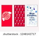 vector illustration of winter... | Shutterstock .eps vector #1248142717