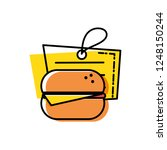 hamburger fast food with tag... | Shutterstock .eps vector #1248150244