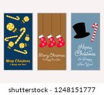 vector illustration of winter... | Shutterstock .eps vector #1248151777