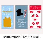 vector illustration of winter... | Shutterstock .eps vector #1248151801