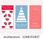 vector illustration of winter... | Shutterstock .eps vector #1248151837