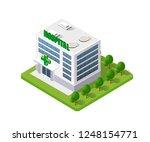 medical hospital clinic virus... | Shutterstock .eps vector #1248154771