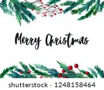 watercolor colorful christmas...   Shutterstock . vector #1248158464