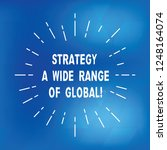 text sign showing strategy a... | Shutterstock . vector #1248164074