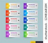 infographics template 10... | Shutterstock .eps vector #1248168184