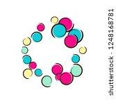polka dot frame with comic pop... | Shutterstock .eps vector #1248168781