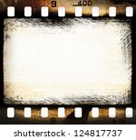 grunge filmstrip  may be used... | Shutterstock . vector #124817737