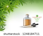 vector green cannabis oil. cbd... | Shutterstock .eps vector #1248184711