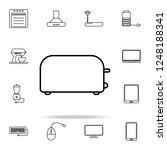 toaster outline icon....   Shutterstock .eps vector #1248188341