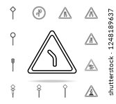 abrupt turn icon. road sign...   Shutterstock .eps vector #1248189637