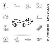children car line icon. toys... | Shutterstock .eps vector #1248192301