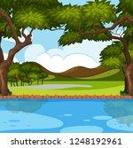 outdoor nature river scene... | Shutterstock .eps vector #1248192961