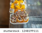 thai crispy pancake. thai... | Shutterstock . vector #1248199111