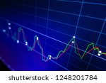 stock exchange market graph on... | Shutterstock . vector #1248201784
