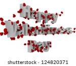 3d happy valentine day text... | Shutterstock . vector #124820371