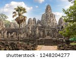 bayon temple is khmer ancient... | Shutterstock . vector #1248204277