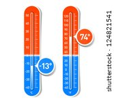 celsius and fahrenheit... | Shutterstock .eps vector #124821541