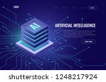 artificial intelligence icon ai ... | Shutterstock .eps vector #1248217924