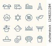 international food delivery... | Shutterstock .eps vector #1248221284