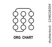 organizational chart icon.... | Shutterstock .eps vector #1248228304
