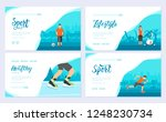 sport information brochure card ... | Shutterstock .eps vector #1248230734