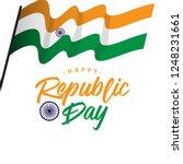 happy india republic day vector ... | Shutterstock .eps vector #1248231661