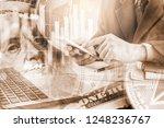 modern way of exchange. bitcoin ... | Shutterstock . vector #1248236767