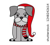 dog merry christmas card | Shutterstock .eps vector #1248242614