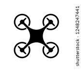 drone icon vector  | Shutterstock .eps vector #1248247441